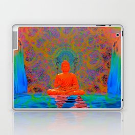Cool Water Zen (Ultraviolet) (psychedelic, meditation) Laptop & iPad Skin