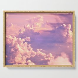 Whimsical Unicorn Lavender Clouds Serving Tray