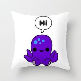 Octopus Conversation Throw Pillow