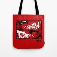 akira Tote Bags featuring Akira! by Demonigote