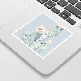 Prettiest Rose Cactus Blue Sticker