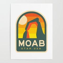 Moab Utah Patch Poster