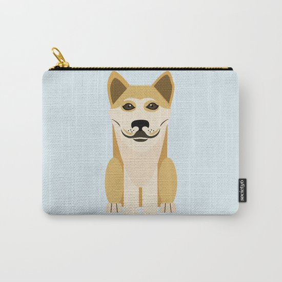 Shiba dog vector Carry-All Pouch