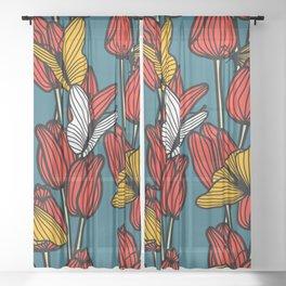 Butterfly Garden Sheer Curtain