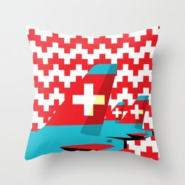 Switzerland by Air Throw Pillow