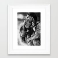 native american Framed Art Prints featuring Native American  by Thubakabra