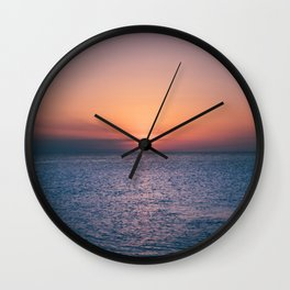 Beach Sunset // Landscape Photography Wall Clock