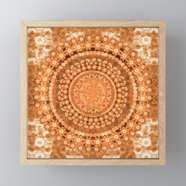 Boho Pumpkin Spice Mandala Framed Mini Art Print