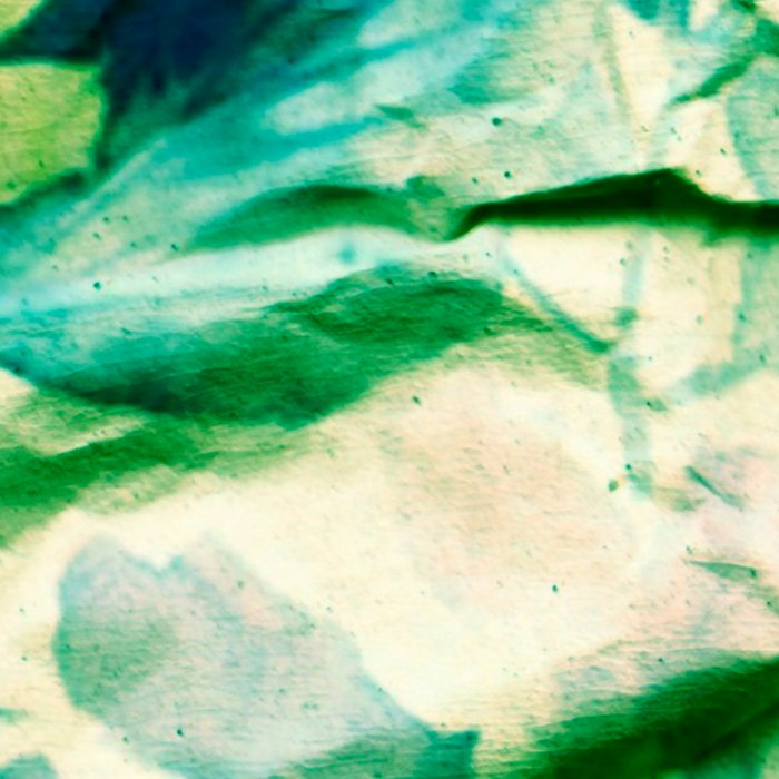 green floral on crumpled paper Leggings