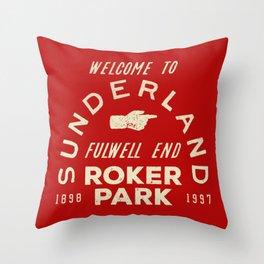 Roker Park Football Ground Throw Pillow