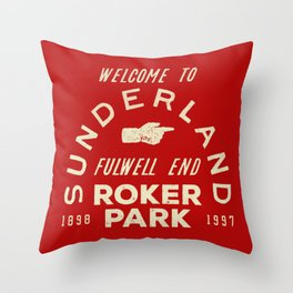 Roker Park Football Ground Throw Pillow