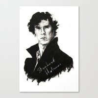 sherlock holmes Canvas Prints featuring Sherlock Holmes by StarshipRanger