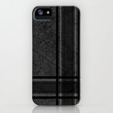 Grungy Grey Plaid iPhone (5, 5s) Slim Case