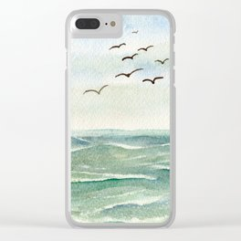 Flock Flying Low WC160404b-09 Clear iPhone Case