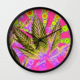 Pretty Pot Leaf Wall Clock