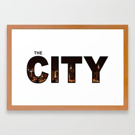 The City - Version 6 Framed Art Print