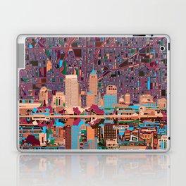 indianapolis city skyline purple Laptop & iPad Skin