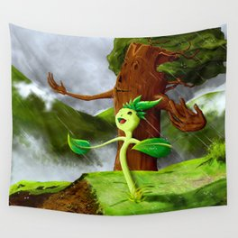 Growth of a seed Wall Tapestry