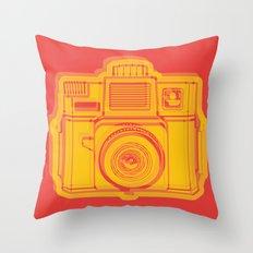 I Still Shoot Film Holga Logo - Reversed Yellow & Red Throw Pillow