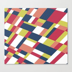Map Matisse Stretched Canvas Print