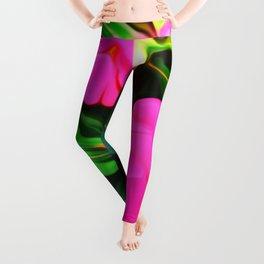 Painted Impatiens Leggings
