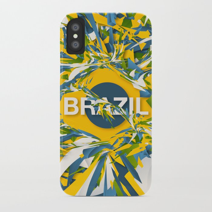 Abstract Brazil iPhone Case