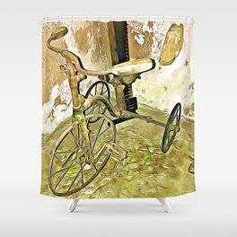 Once Upon a Time - Toy Trike Shower Curtain