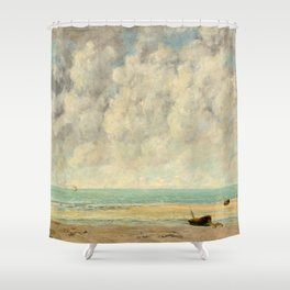 The Calm Sea - Gustave Courbet Shower Curtain