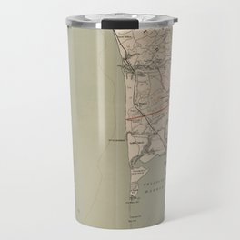 Vintage Map of Lower Cape Cod (1891) Travel Mug