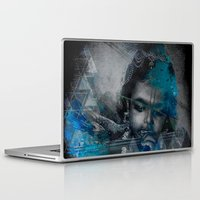 hindu Laptop & iPad Skins featuring Krishna The mischievous one - The Hindu God by sarvesh