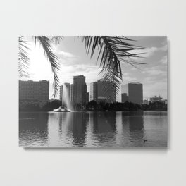 City Lake Views Metal Print