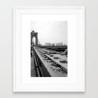 brooklyn bridge Framed Art Prints featuring Brooklyn Bridge by Alane Gianetti