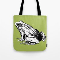 frog Tote Bags featuring Frog by Aubree Eisenwinter