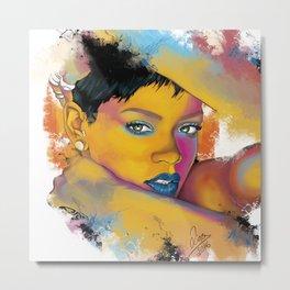 Rihanna Metal Print