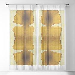 composition whith ginkgo biloba Sheer Curtain