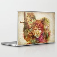 the lord of the rings Laptop & iPad Skins featuring The Lord of the Rings by Miriam Soriano