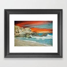 HAPPY SEASCAPE Framed Art Print