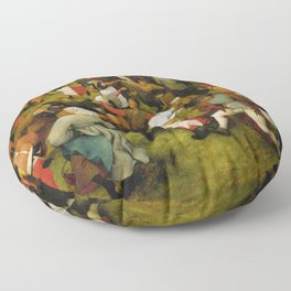 """Pieter Bruegel (also Brueghel or Breughel) the Elder """"Wedding Dance in the Open Air"""" Floor Pillow"""
