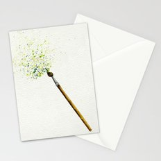 Feathers & Flecks (Canvas Background Edition) Stationery Cards