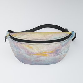 Clouds over water - pastel grunge background Fanny Pack