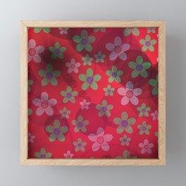 abstract pattern in red, rose, flower,blossom metal Framed Mini Art Print