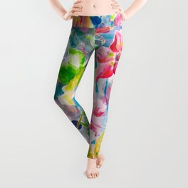 Watercolor Flowers Leggings