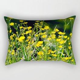 Butter-cup flield Rectangular Pillow