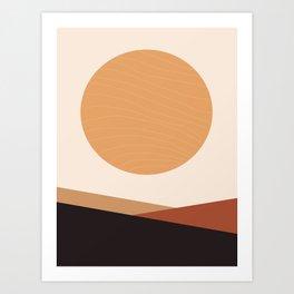 Sun and Mountains Art Print