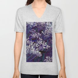 Bunches of Tiny Flowers Unisex V-Neck