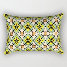 Green X O Rectangular Pillow
