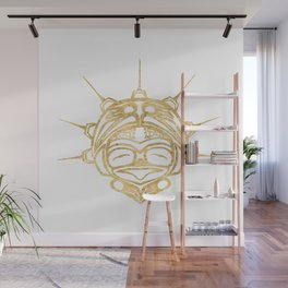 Gold Frog Spirit Wall Mural
