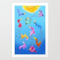 Art Print featuring sunshine by Azbeen