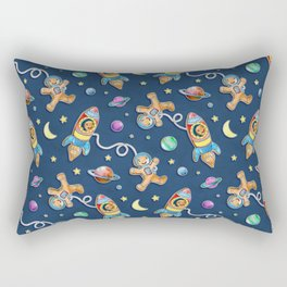 Gingerbread Astronauts Rectangular Pillow