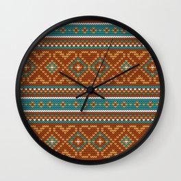 Pattern in Grandma Style #49 Wall Clock